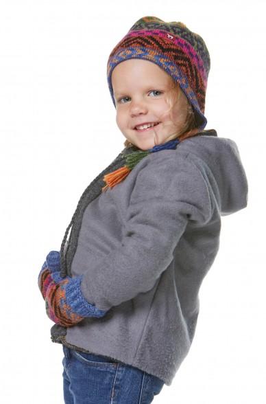 Alpaka Mütze AQUARELL (Kinder 5-9 Jahre) aus 100% Baby Alpaka_32545