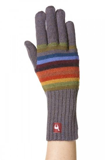 Damen Herren Fingerhandschuhe ARCO IRIS unisex aus Alpakawolle_32609