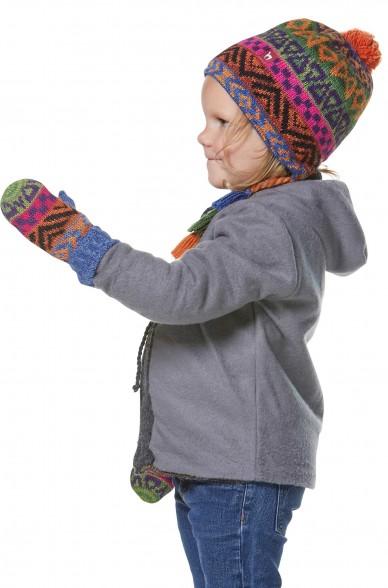 Alpaka Fausthandschuhe AQUARELLl ( ab 1 Jahr) aus 100% Baby Alpaka_32620