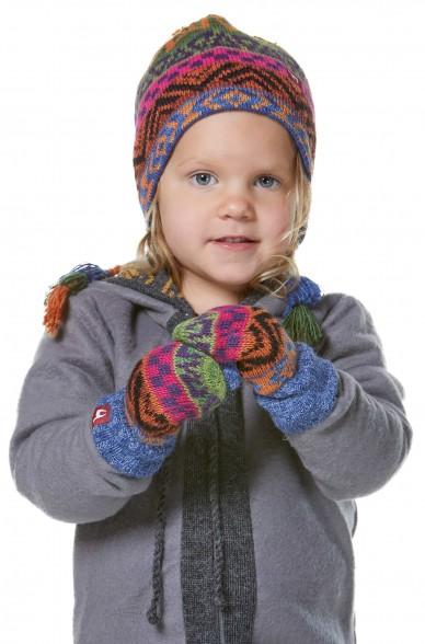 Alpaka Fausthandschuhe AQUARELLl ( ab 1 Jahr) aus 100% Baby Alpaka_32622