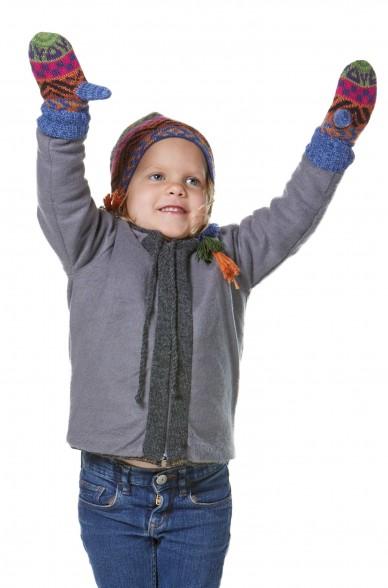 Alpaka Baby Fausthandschuhe AQUARELLl ( ab 9 Monate) aus 100% Baby Alpaka_32625