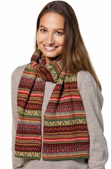 Damen Jacquard Schal LUNA Strick extra warm von APU KUNTUR_32784