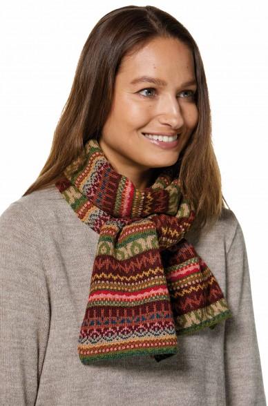 Damen Jacquard Schal LUNA Strick extra warm von APU KUNTUR_32785