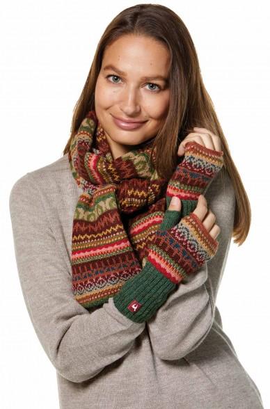 Damen Jacquard Schal LUNA Strick extra warm von APU KUNTUR_32786