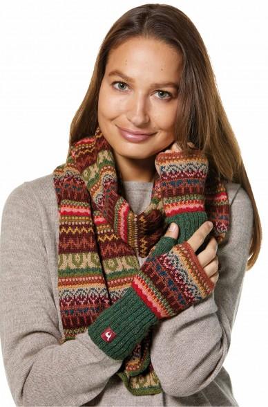 Damen Jacquard Schal LUNA Strick extra warm von APU KUNTUR_32787