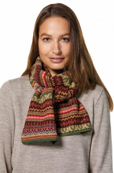Damen Jacquard Schal LUNA Strick extra warm von APU KUNTUR_32788