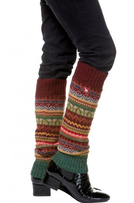Damen Beinstulpen LUNA peruanisches Muster von APU KUNTUR_32811