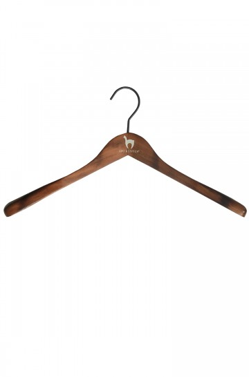 APU KUNTUR Kleiderbügel Holz 45 cm mit Alpaka Logo Unisex Damen Herren_35452