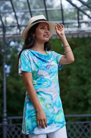 Tunika Shirt RUTH aus Bio Baumwolle für Damen_37043
