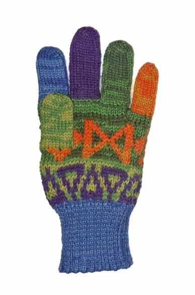 Alpaka Fingerhandschuhe AQUARELLl ( ab 4 Jahre) aus 100% Baby Alpaka_37107