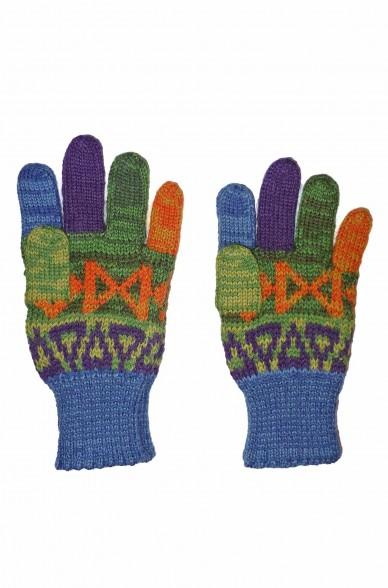 Alpaka Fingerhandschuhe AQUARELLl ( ab 4 Jahre) aus 100% Baby Alpaka_37108