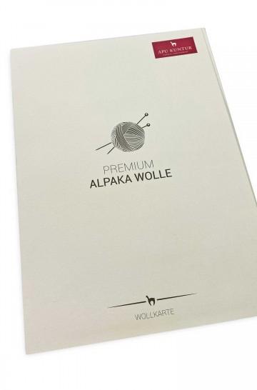 Wollkarte APU KUNTUR für Alpaka Wolle Farbmusterkarte_39490