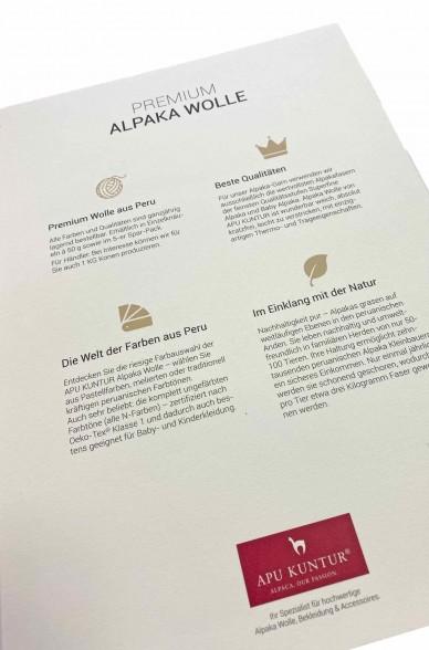 Wollkarte APU KUNTUR für Alpaka Wolle Farbmusterkarte_39494