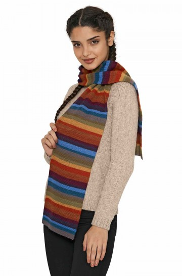 Damen Ringel Schal ARCO IRIS Alpaka Strick_40748