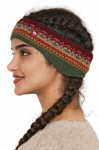 Stirnband LUNA Baby Alpaka Jacquard Strick_40783