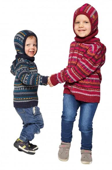 Alpaka Schlupfmütze MONITO (für Kinder) aus 30% Baby Alpaka & 70% Baumwolle_40914