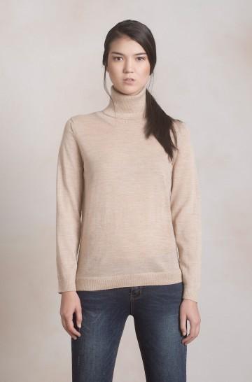 Rollkragen Pullover ANAHI Baby Alpaka Damen Basic von KUNA Essentials Adeline_41030