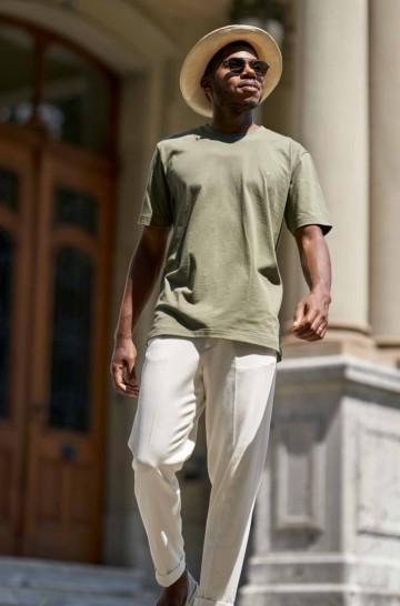 T-Shirt Rundhals aus 90% Bio-Baumwolle & 10% Royal Alpaka_42543