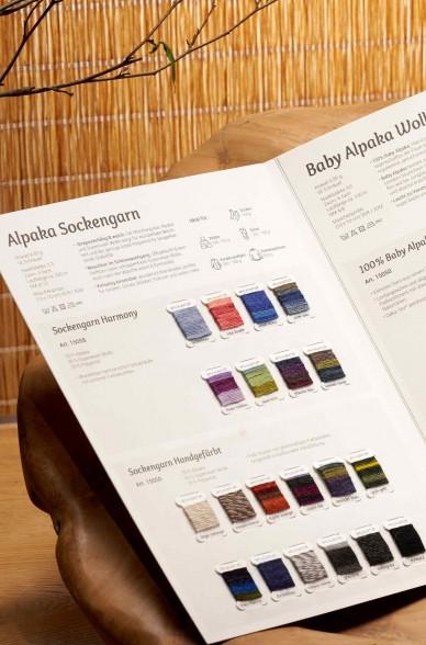 Wollkarte APU KUNTUR für Alpaka Wolle Farbmusterkarte_42760