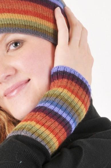 Damen Pulswärmer ARCO IRIS Armwärmer aus Alpaka gestrickt_4775